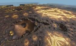 Fractal desert flyover