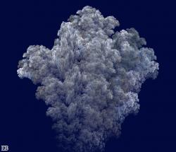 Volcano's Explosion Cloud 3D