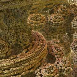 Mandelbulb (power 2) and Mandelbox mix - closeup
