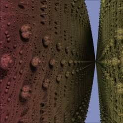 """Close up between large bulbs (""""Martian surface"""")"""
