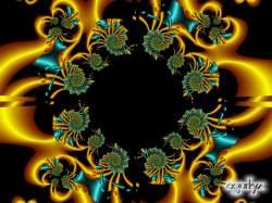 Serie configuración circular -Oro turqueza-