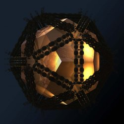 Icosahedral container of the dodecahedral keeper of fractal enlightenment