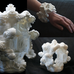 Mandelbulb Bracelet #01 -3D printed fractal jewelry