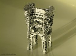 Inverted cathedral - 3D printed fractal