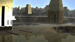 Mayan city after a light rain shower