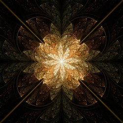A Copper Fractal Flower
