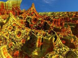 Non NASA Mars Image -Percival Lowell Badlands