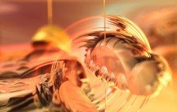 Shiny bug transfixed by entomological pin
