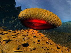 Non NASA Mars Image - Flying Fungal Saucer