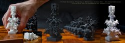Surreal Fractal Chess Set - my Masterpieces - The King -