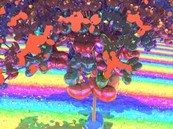 Psychedelic Heart Plant in Rainbow Field