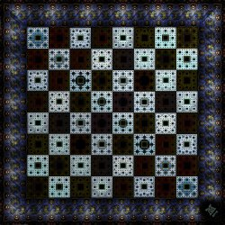 Fractal Chess Set Board