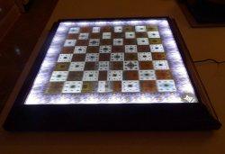 3D Lenticular LED underlit Fractal Chess Board