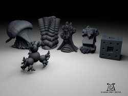 Fractal 3D Chess Set