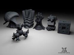 Fractal 3D Chess Set