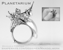 PLANETARIUM Ring - 3D printed in Silver