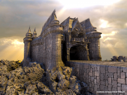 Mixpinski Castle by heightmap