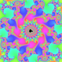 Mandelbrot set zoom with continous escape time
