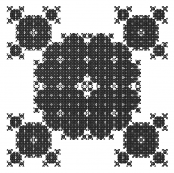 2D negative Mandelbox corner