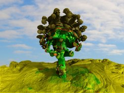 Painted Tree In Painted Desert -4 fractal boolean