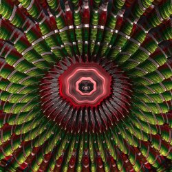Inside a Mandelbulb Void