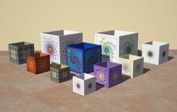 cubic pots