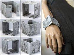 Menger Matrix Cuff Bracelet