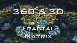 Fractal Matrix - 360° & stereo 3D - Mandelbulb 3D fractal