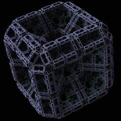 Menger Sponge, 45 Degree Rotation