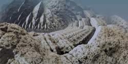 Fractal glacier