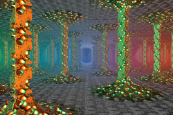 Door in a Mandelboxforest