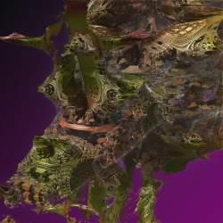 First hybrid fractal