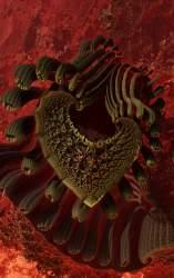 Knitting machine hearts