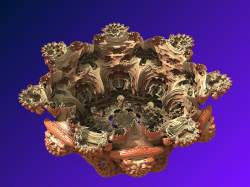 Interior of Mandelbulb power 8