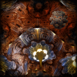 Outside on the inside of the mandelbulb!