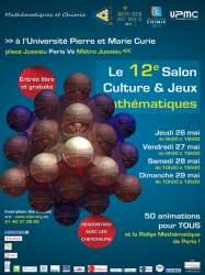 Salon Culture et Jeux Mathématiques - Paris