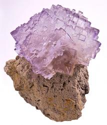 Transparent fractal fluorite