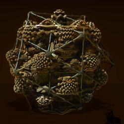Arachnephobia by icosahedral spider leg caging