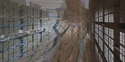 Inside Mandelbox city