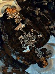 The ever revolving skeletal totem chandelier