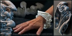 Slice of the Mandelbulb Spine - 3D printed