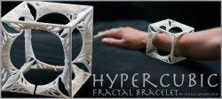 HYPER CUBIC - 3D printed Fractal Bracelet