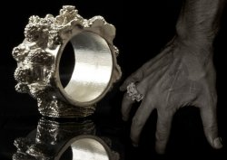 Mandelbulb ring - 3D printed in Sterling silver (92,5% silver)