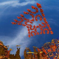 Non NASA Mars Image - Martian Wasps In Attack Formation