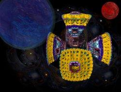 chaosTube  satellite orbiting Kepler 16b