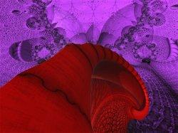 Non-NASA Mars Image, Spiral from InfraRed  UltraViolet Camera