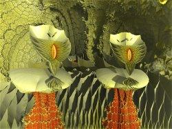 Non NASA Mars Image - Two Fungi, Possibly Sentient