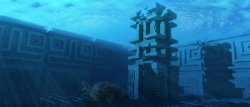 Ancient submerged tower