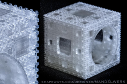 Inverted Menger Sponge Ring - 4 iterations - EXTREMELY DETAILED 3D print!