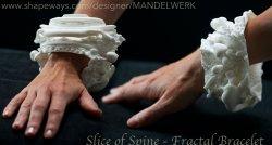 Slice of Spine -Two Vertebrae -3D printed Fractal Bracelet